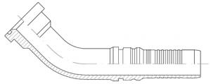 ILP40-SAE-6000-PSI-CODE-62-45°-ELBOW-SOLID-FLANGE-FITTING-INTERLOCK