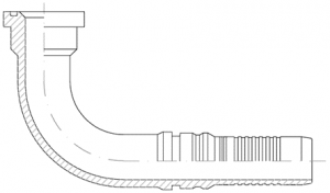 ILP90-SAE-6000-PSI-CODE-62-90°-ELBOW-SOLID-FLANGE-FITTING-INTERLOCK